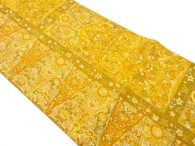 花鳥更紗模様織り出し袋帯【リサイクル】【中古】【着】 宗sou