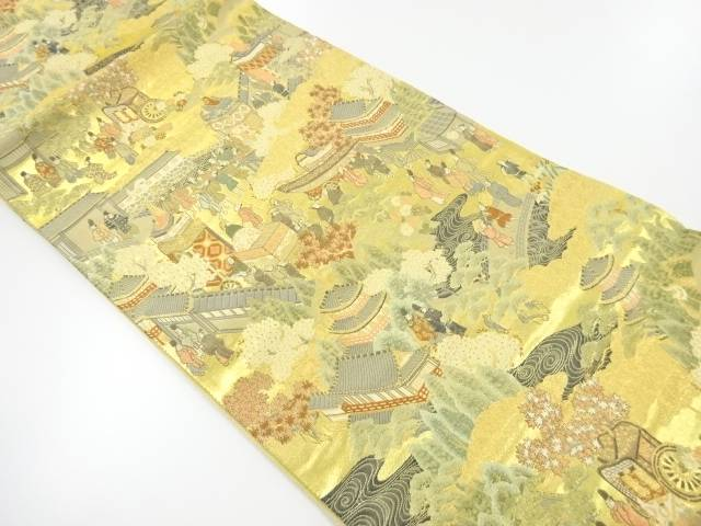 本金箔祇園祭模様織り出し袋帯【リサイクル】【中古】【着】 宗sou