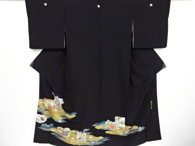 金彩牡丹・菊・橘模様刺繍留袖(比翼付き)【リサイクル】【中古】【着】 宗sou