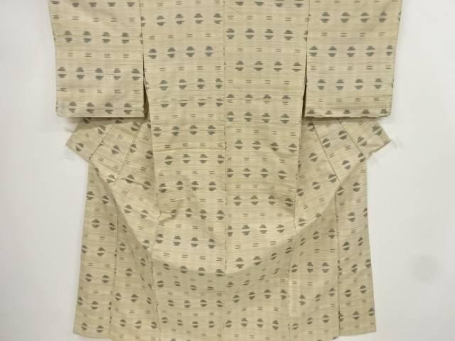 横段模様織り出し手織り真綿紬単衣着物【リサイクル】【中古】【着】 宗sou
