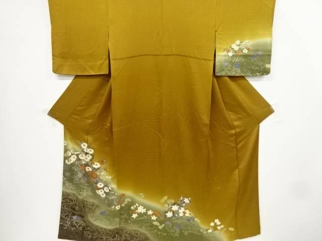 金彩流水に菊・桔梗模様訪問着【リサイクル】【中古】【着】 宗sou