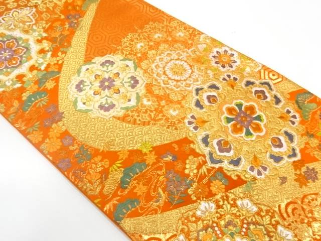 金珠華紋織出し袋帯【リサイクル】【中古】【着】 宗sou