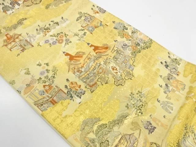 時代人物に山鉾模様織出し袋帯【リサイクル】【中古】【着】 宗sou