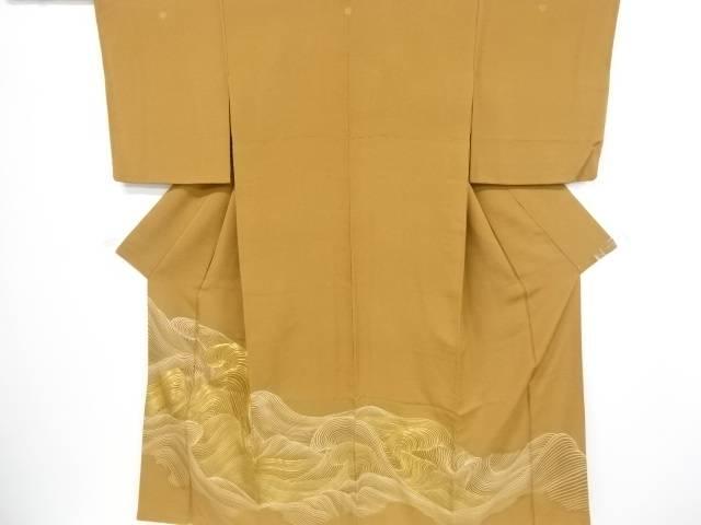 荒波模様刺繍三つ紋色留袖【リサイクル】【中古】【着】 宗sou