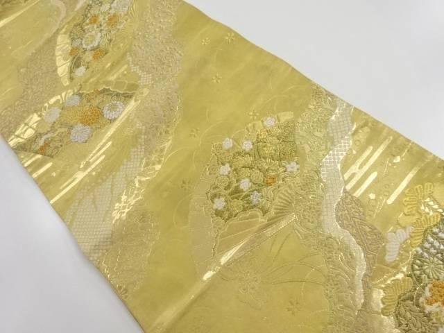 本金 道長取りに花扇模様織り出し袋帯【リサイクル】【中古】【着】 宗sou