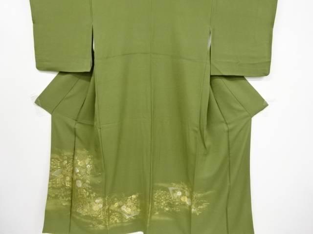 寿光織雲取り菊枝梅模様織り出し一つ紋色留袖【リサイクル】【中古】【着】 宗sou