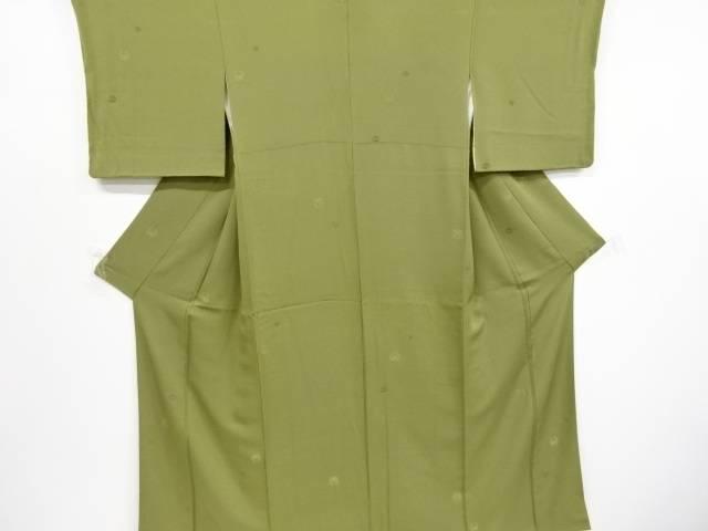 定番から日本未入荷 茶道具 最安値に挑戦 茶道 着物 梅 藤 中古 リサイクル 笹模様織り出し一つ紋小紋着物 着 宗sou