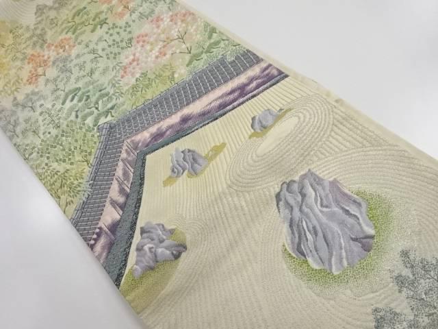 竜安寺石庭模様織り出し袋帯【リサイクル】【中古】【着】 宗sou