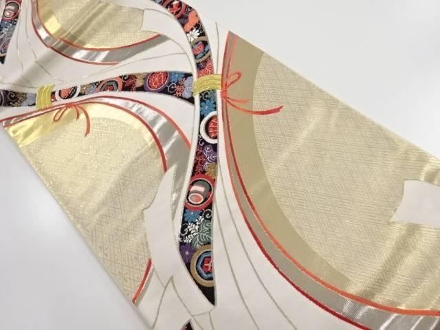 束ね熨斗に宝尽くし・桐唐草模様織り出し袋帯【リサイクル】【中古】【着】 宗sou