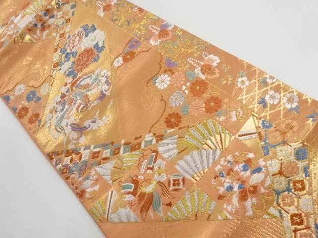 本金錦繍聚宝文織り出し袋帯【リサイクル】【中古】【着】 宗sou