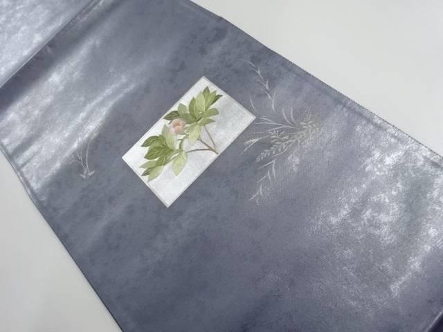 引箔枝花文様刺繍袋帯【リサイクル】【中古】【着】 宗sou