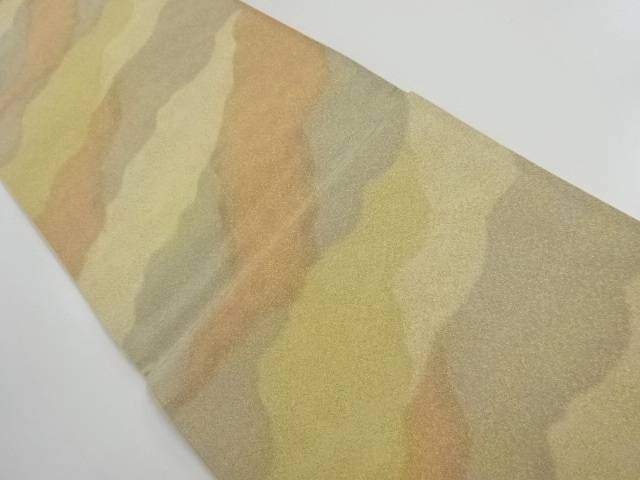 正和製 砂子綴れ霞模様織り出し全通袋帯【リサイクル】【中古】【着】 宗sou