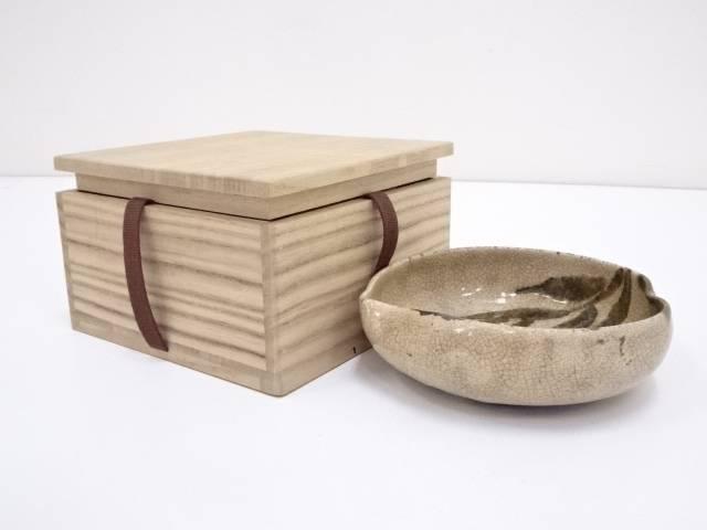 古物 桃形平鉢(保護箱)【中古】【道】 宗sou