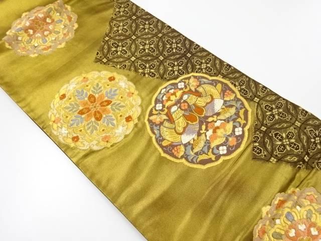 華紋に鴛鴦模様織出し袋帯【リサイクル】【中古】【着】 宗sou