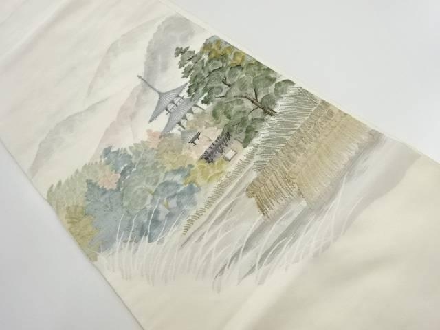 法輪寺模様織り出し袋帯【リサイクル】【中古】【着】 宗sou