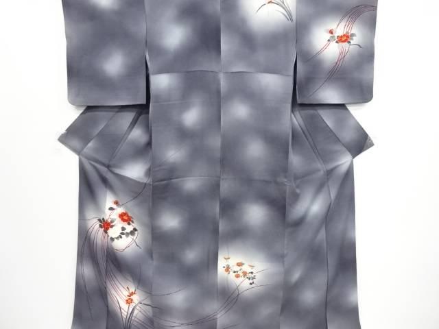 茶道具 茶道 着物 椿模様刺繍訪問着 中古 宗sou リサイクル 信用 着 アウトレットセール 特集