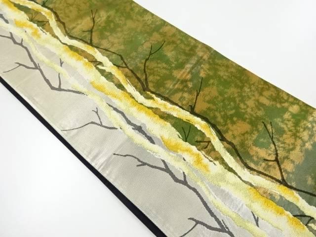 木立模様織出し袋帯【リサイクル】【中古】【着】 宗sou