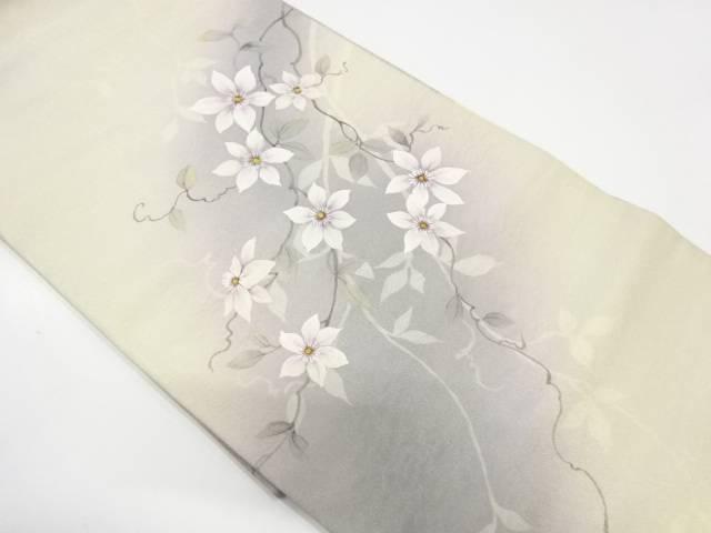 手描き枝花模様袋帯【リサイクル】【中古】【着】 宗sou