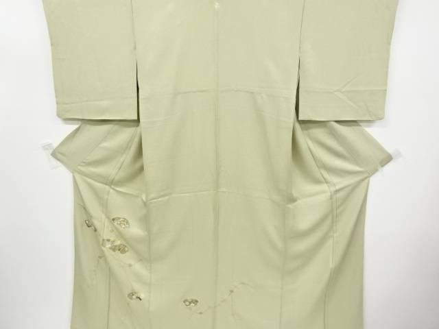 金彩破れ地紙に梅・楓模様刺繍一つ紋訪問着【リサイクル】【中古】【着】 宗sou