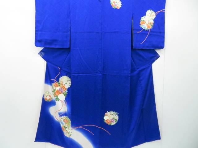 付下げ 花丸紋に組紐文 着物【リサイクル】【中古】【着】 宗sou