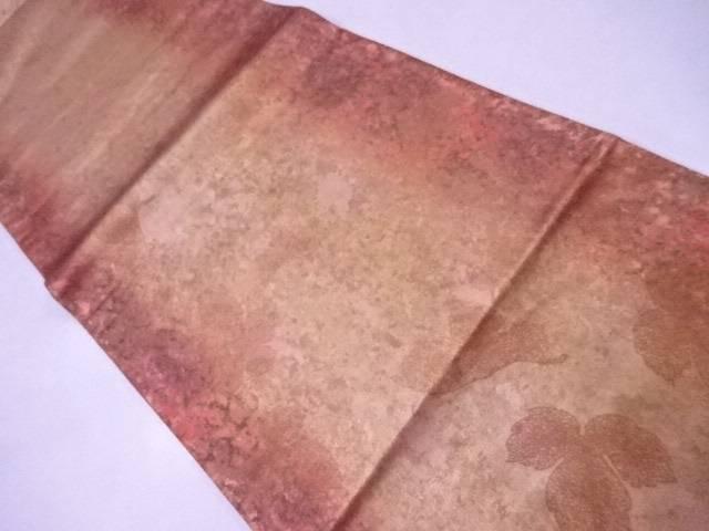 袋帯 西陣織 秋葉シルク箔 木の葉散らし文【リサイクル】【中古】【着】 宗sou