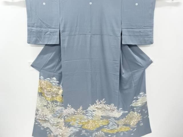 金彩友禅茶屋辻模様五つ紋色留袖(比翼付き)【リサイクル】【中古】【着】 宗sou
