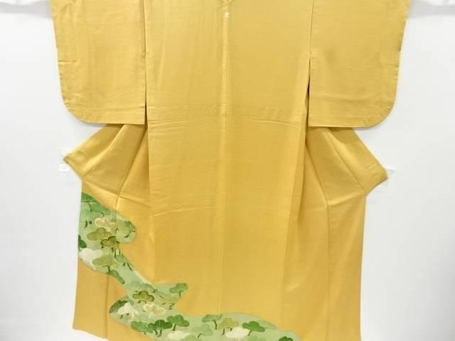 流水に笠松模様刺繍一つ紋単衣色留袖【リサイクル】【中古】【着】 宗sou