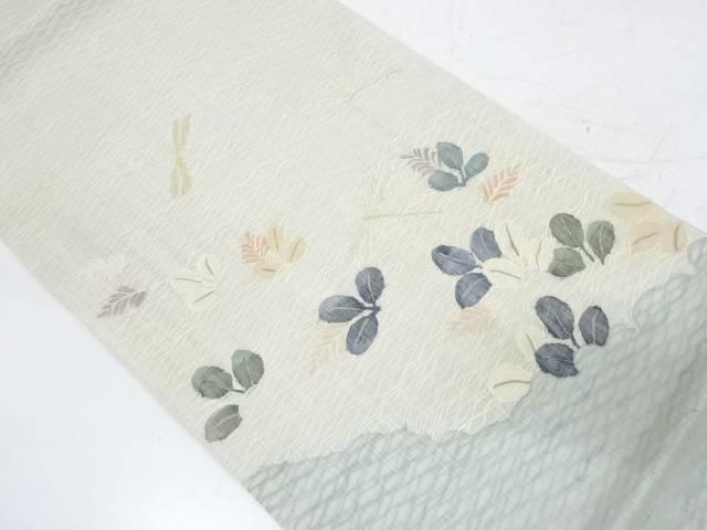 茶道具 茶道 着物 すくい織萩に蜻蛉模様織出し袋帯 リサイクル 宗sou 送料無料激安祭 着 送料0円 中古