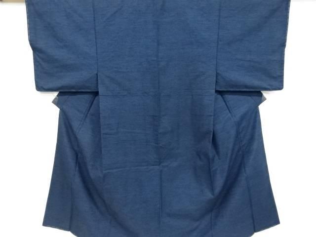 織り柄手織り真綿紬男物着物アンサンブル兵児帯セット【リサイクル】【中古】【着】 宗sou