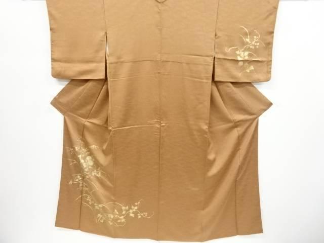 金彩菊模様一つ紋訪問着(重ね衿付き)【リサイクル】【中古】【着】 宗sou