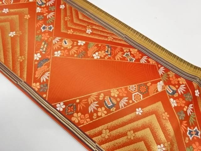 松竹梅に宝づくし模様織出し袋帯【リサイクル】【中古】【着】 宗sou