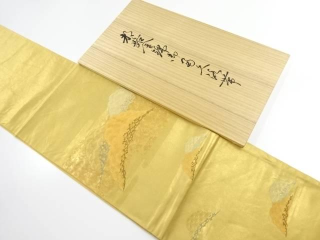 都路金錦寿松錦繍文織出し袋帯【リサイクル】【中古】【着】 宗sou