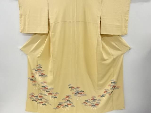 作家物 手描友禅松原模様三つ紋色留袖(比翼付き)【リサイクル】【中古】【着】 宗sou