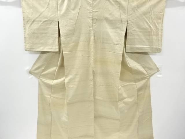 横段模様織り出し手織り紬単衣着物【リサイクル】【中古】【着】 宗sou
