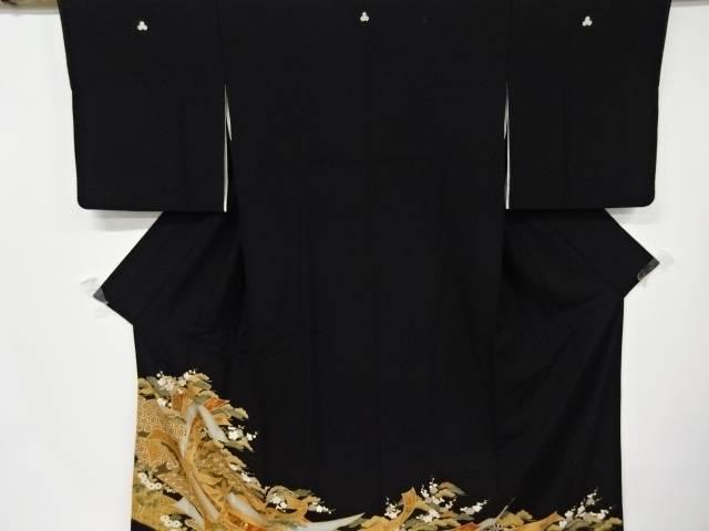 束ね熨斗に松竹梅・古典柄留袖(比翼付き)【リサイクル】【中古】【着】 宗sou