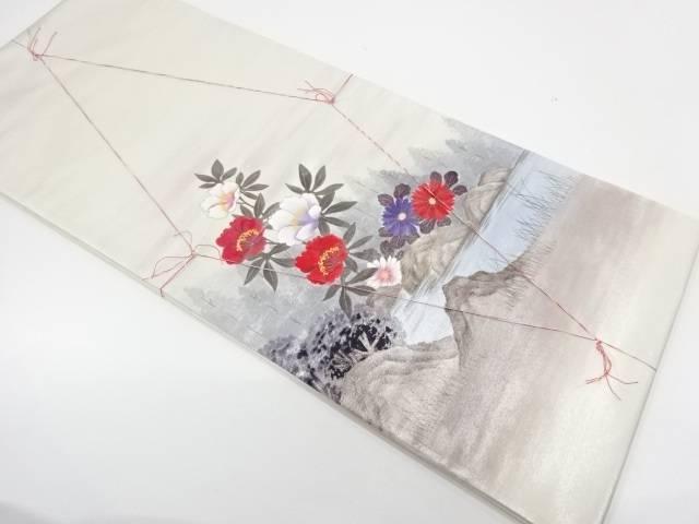 未使用品 草花風景模様織出し袋帯【リサイクル】【着】 宗sou