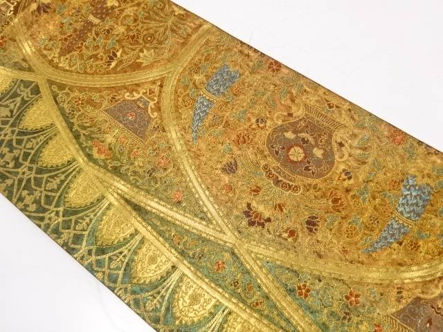 アンベール城壁画飾文織出し袋帯【リサイクル】【中古】【着】 宗sou