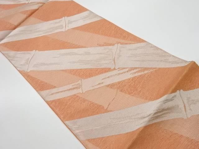 未使用品 姫野織物製 絽竹模様織出し袋帯(未仕立て)【リサイクル】【着】 宗sou