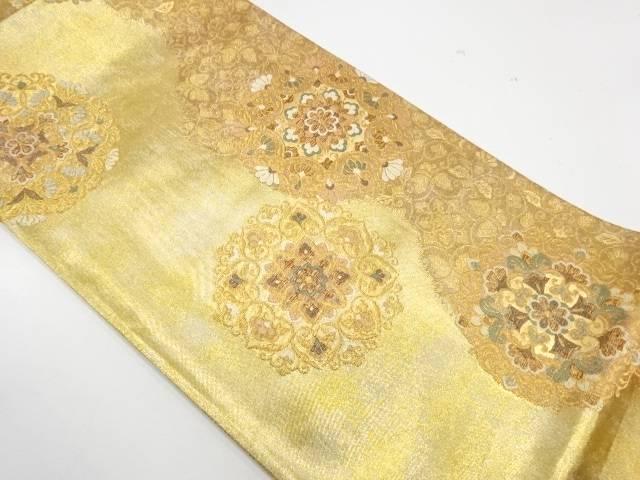華紋模様織出し袋帯【リサイクル】【中古】【着】 宗sou