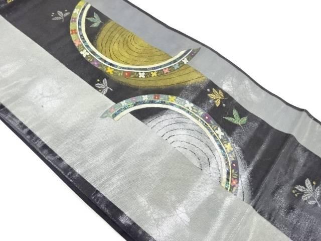 岡島良山 螺鈿草花模様袋帯【リサイクル】【中古】【着】 宗sou