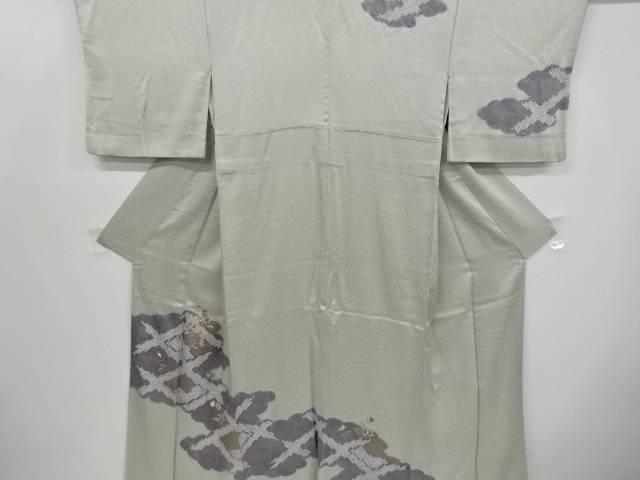 絞り雲取りに花古典柄刺繍一つ紋訪問着【リサイクル】【中古】【着】 宗sou