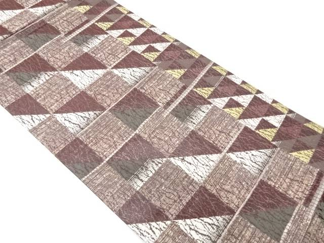 大光製 抽象模様織出し袋帯【リサイクル】【中古】【着】 宗sou