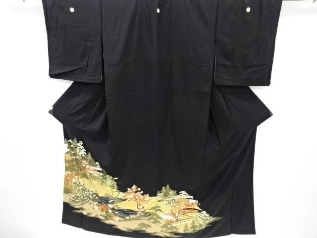 金彩庭園風景に尾長鳥模様留袖(比翼付き)【リサイクル】【中古】【着】 宗sou