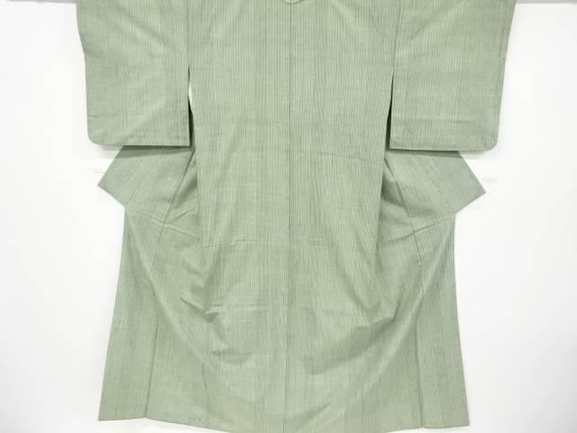 縞織り出し手織り紬着物【リサイクル】【中古】【着】 宗sou