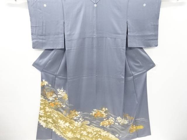 金彩花筏模様三つ紋色留袖【リサイクル】【中古】【着】 宗sou