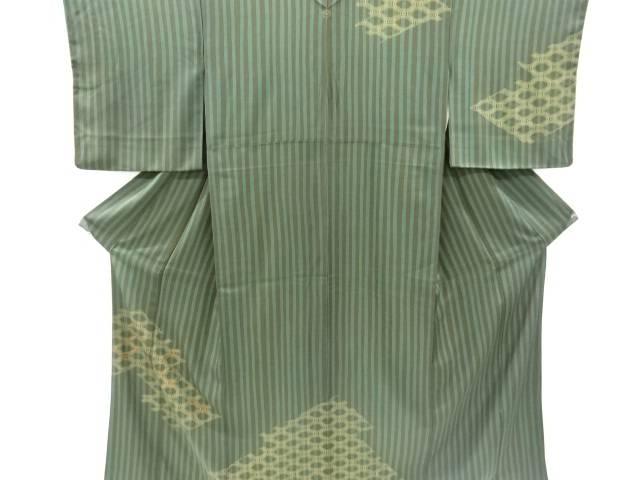 縞に蜀江紋刺繍一つ紋訪問着【リサイクル】【中古】【着】 宗sou