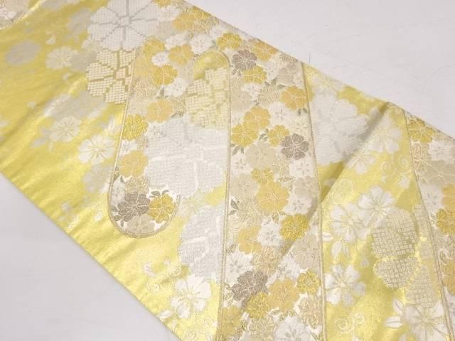 未使用品 ヱ霞に桜模様織出し袋帯【リサイクル】【着】 宗sou