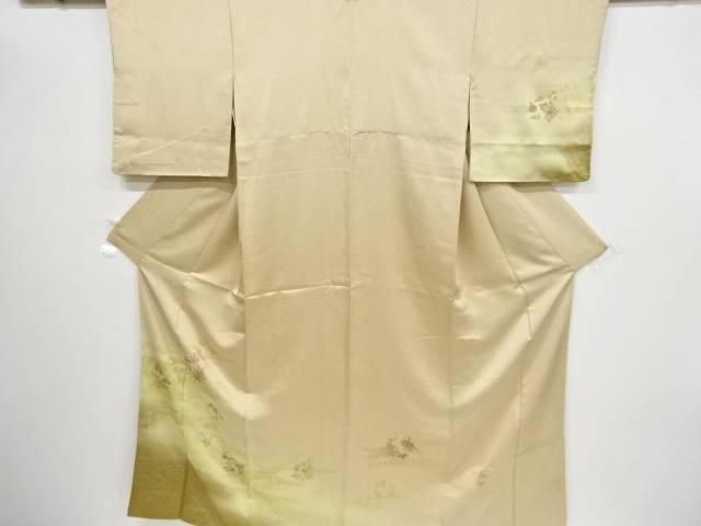 金彩菊に牡丹模様刺繍訪問着【リサイクル】【中古】【着】 宗sou
