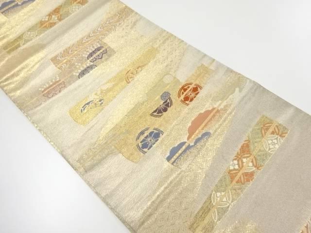 慶長舞扇文織出し袋帯【リサイクル】【中古】【着】 宗sou