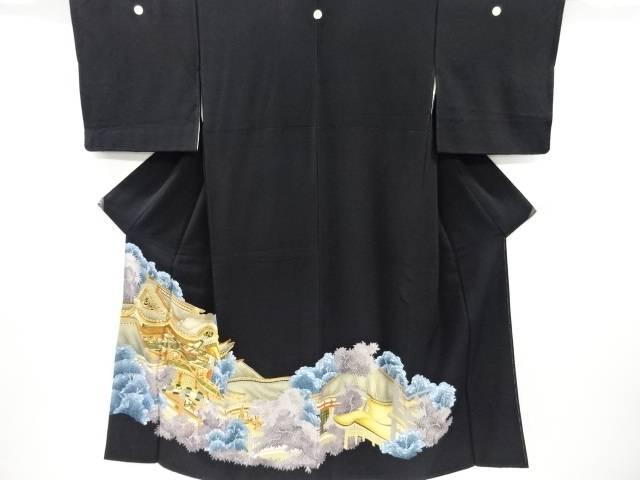 金彩屋敷模様刺繍留袖(比翼付き)【リサイクル】【中古】【着】 宗sou
